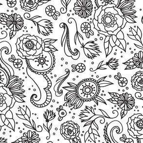 Coloring Book Floral