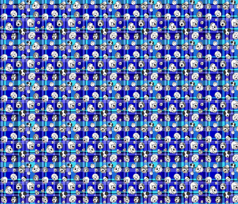 OES_faces_Blue_plaid_2 fabric by creativeworksstudios on Spoonflower - custom fabric