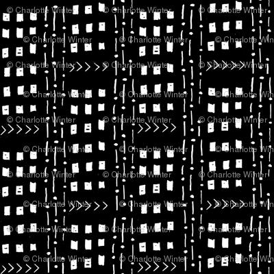 mudcloth inspired fabrics - black and white fabric