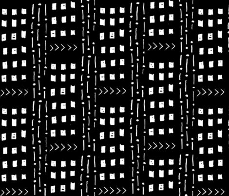mudcloth inspired fabrics - black and white fabric fabric by charlottewinter on Spoonflower - custom fabric