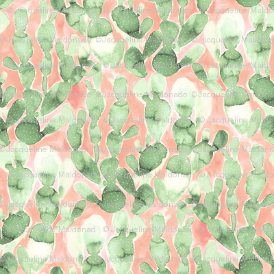 Paddle Cactus Pale Green Blush