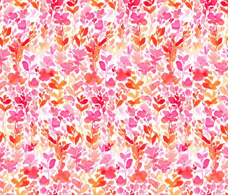 Flirt Orange Pink fabric by mjmstudio on Spoonflower - custom fabric