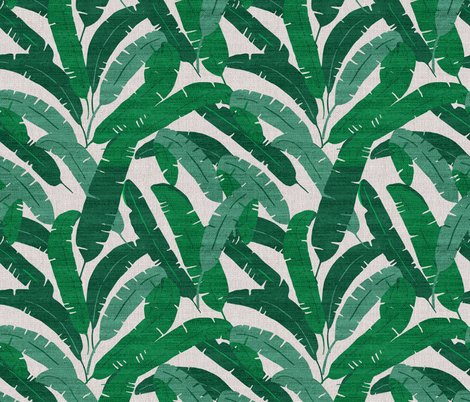 FRENCH_LINEN_BANANA_LEAF fabric by holli_zollinger on Spoonflower - custom fabric