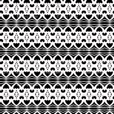 Black and White Tribal #1
