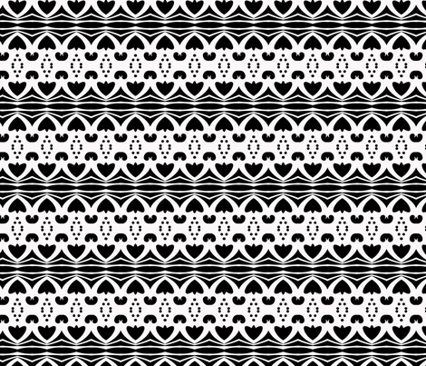 Black and White Tribal #1 fabric by krwdesigns on Spoonflower - custom fabric