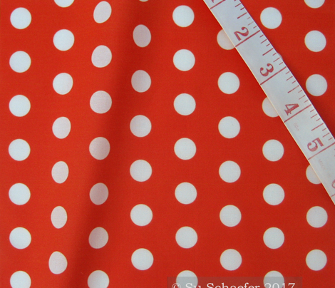 White polka dots on flame hot orange by Su_G