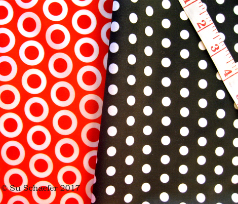 Red in white polka dots on flame hot orange by Su_G