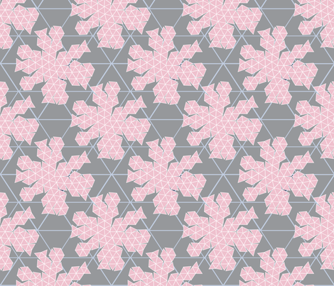 Geodesic Dome Template grey fabric - colour_angel_by_kv - Spoonflower