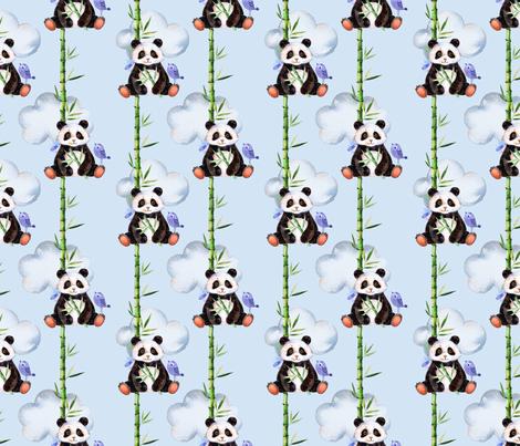 Panda-monium fabric by jilbert on Spoonflower - custom fabric