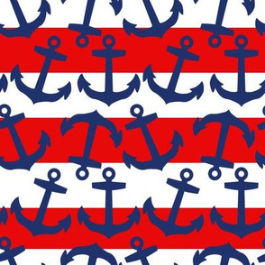 Anchors and Red Stripes, Nautical