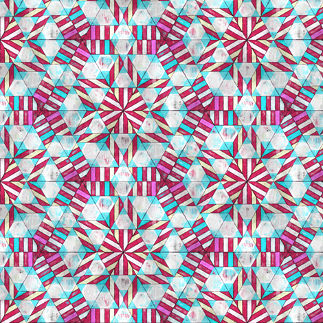 Peppermint Geodesic fabric by palifino on Spoonflower - custom fabric