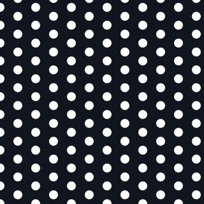 Small white polka dots on dark gray by Su_G