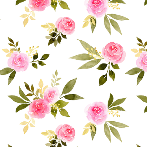 Classy Rose fabric by mintpeony on Spoonflower - custom fabric