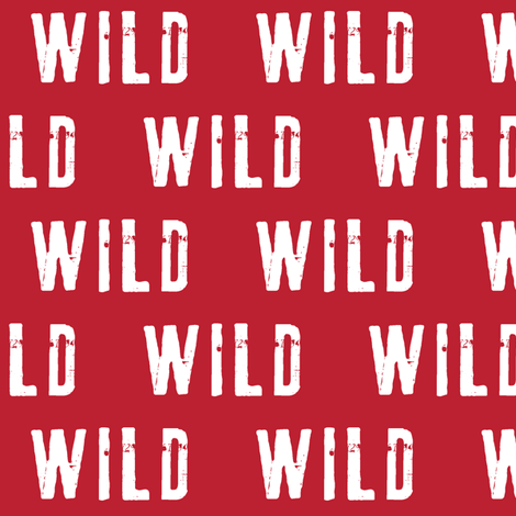 wild (red) fabric by littlearrowdesign on Spoonflower - custom fabric