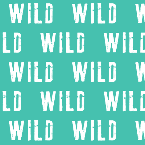 wild (green) fabric by littlearrowdesign on Spoonflower - custom fabric