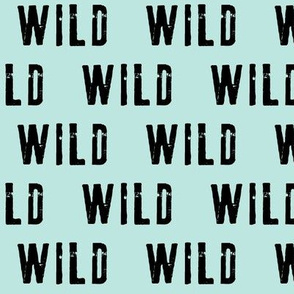 wild (black on blue)