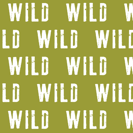 wild (olive) fabric by littlearrowdesign on Spoonflower - custom fabric
