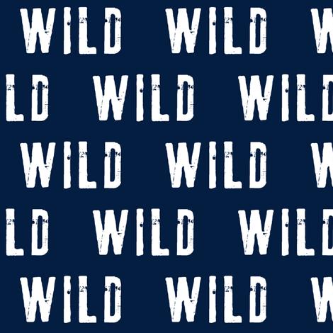 wild (navy) fabric by littlearrowdesign on Spoonflower - custom fabric