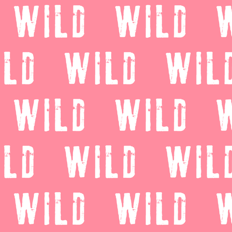 wild (pink) fabric by littlearrowdesign on Spoonflower - custom fabric
