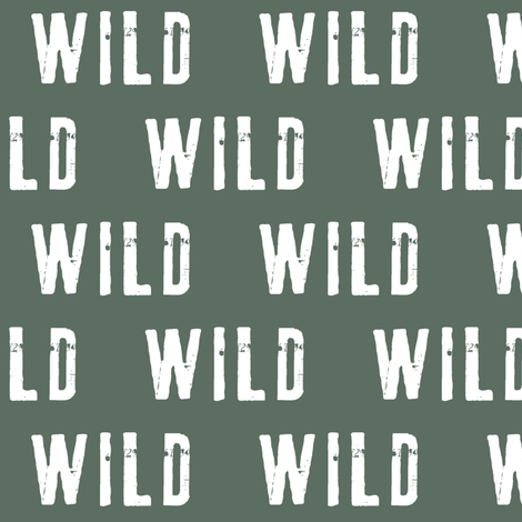 wild (adventurer green) fabric by littlearrowdesign on Spoonflower - custom fabric