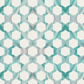 Marble Hexagons - Aqua
