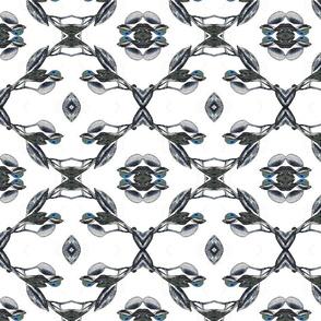 Floral geometric pattern - KURRAJONG