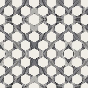 Marble Hexagons - Neutrals