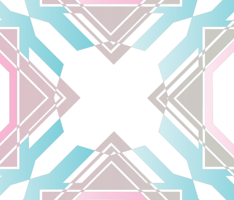 Geometric fairy floss fabric by spirit_of_wonderland on Spoonflower - custom fabric