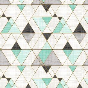 Mod Triangles Mint BW