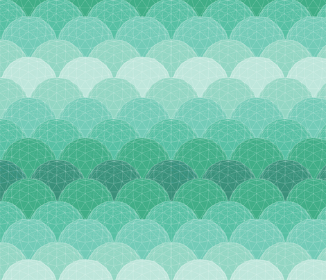 geodesic scallop - glass fabric by katielee on Spoonflower - custom fabric