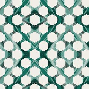 Marble Hexagons - Emerald