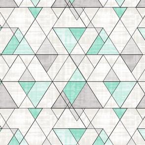 Mod Triangles Mint Gray
