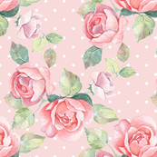 Pink pattern with roses