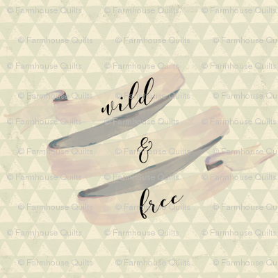 Wild and Free Quote | Woodland Watercolor wallpaper