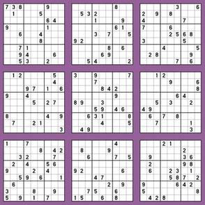 Sudoku - Purple