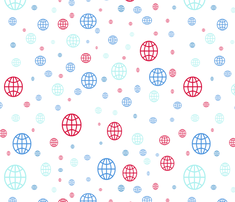 Geoditsy fabric by oceangirlcreativeco on Spoonflower - custom fabric