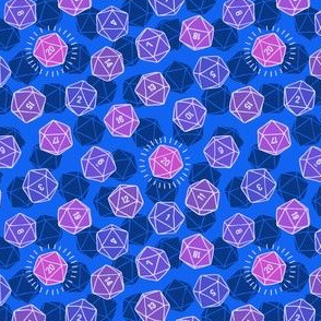 Tossed d20 in Blue & Purple