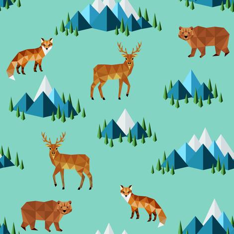 Woodland fabric by svetlana_prikhnenko on Spoonflower - custom fabric