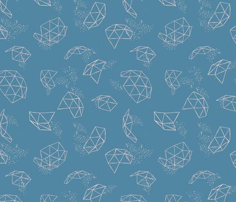 Niagara Geodesic fabric by daniteal on Spoonflower - custom fabric