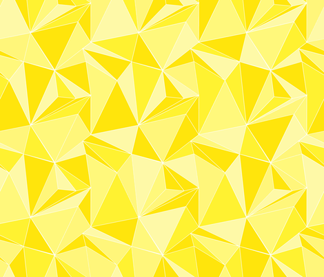 Geodesic_yellow_shades fabric by les_motifs_de_sarah on Spoonflower - custom fabric