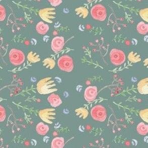 Flowers Delice Green