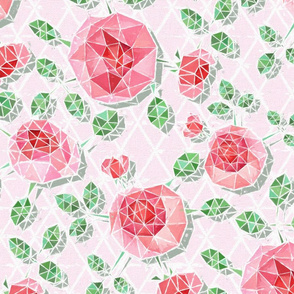 Abstract Geodesic Pink Rose Lattice