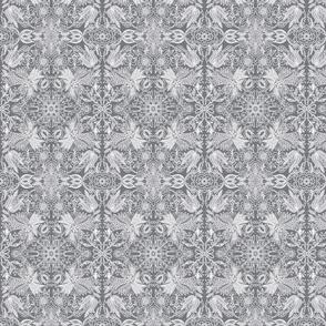 Folk Flowers Gray