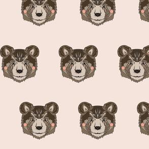Bear head powder pink