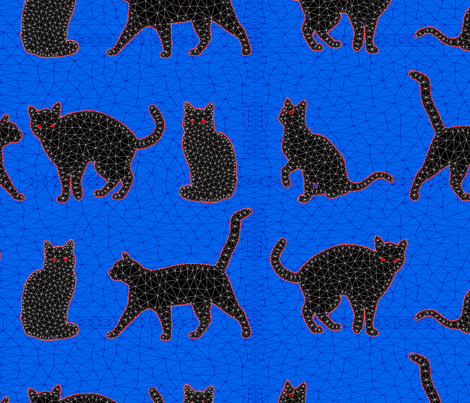 Astro_Cats fabric by anne-m-bray on Spoonflower - custom fabric