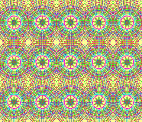 Plaid in a Spin on Sunbeam Yellow fabric by rhondadesigns on Spoonflower - custom fabric
