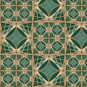 Emerald Geodesic Tile