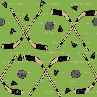 hockey fabric //  hockey sports fabrics hockey sport ice hockey kids fabric  - green
