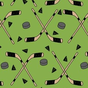 hockey fabric //  hockey sports fabrics hockey sport ice hockey kids fabric  - green