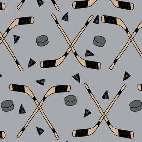 hockey fabric //  hockey sports fabrics hockey sport ice hockey kids fabric  - grey